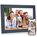 FULLJA 10 inch WiFi Digital Picture Frame Touch Screen IPS HD Display, Smart Photo Frame, 16GB Storage, Auto-Rotate, Motion Sensor, Share Photos and Videos via iOS or Android App, Email, Cloud