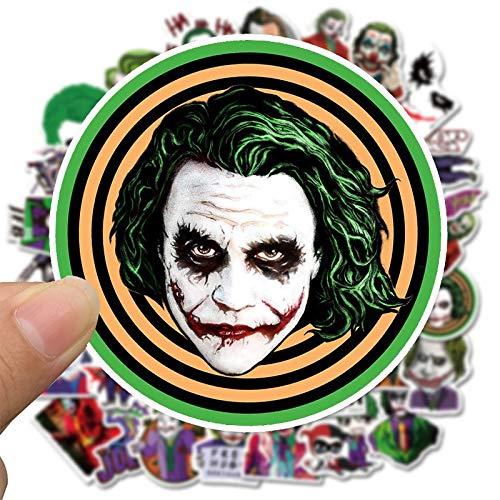 50PCS El Joker animado pegatinas payaso de dibujos animados for la caja del ordenador portátil del estilo de la motocicleta de monopatín de juguete for niños de la etiqueta de equipaje Sticke F4