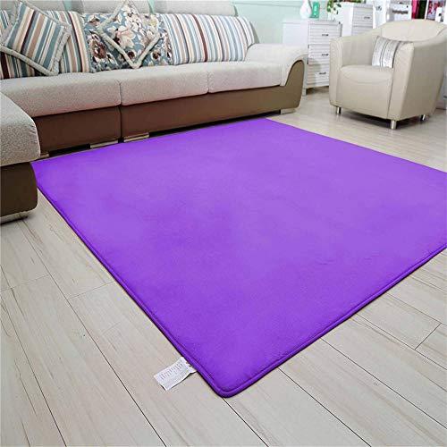 DJHWWD Tapijt Antiskid Thee Tafelkleed Puur paars eenvoudig ontwerp multi-size tapijt voor baby's om te kruipen en spelen meeldauw weerstand tegen mijten Tapijt