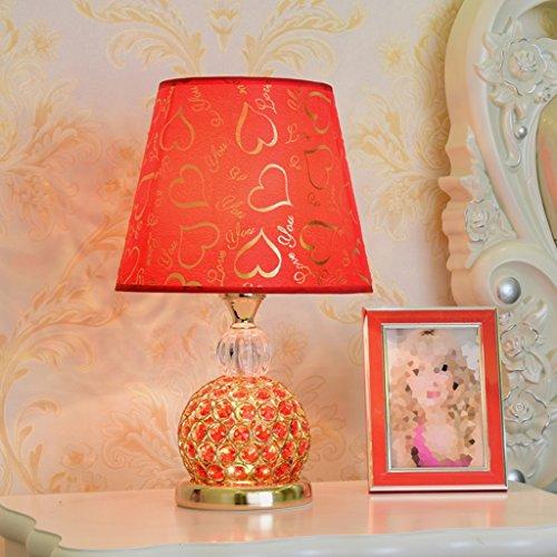 CSQ Lampe de Table en Cristal, Entrée de Chevet de Chambre Fleur Boutique Salon Restaurant Étude Table de Table Lampe de Table, Bouton d'Interrupteur d'Alimentation E27 24 * 39CM (Couleur : C)
