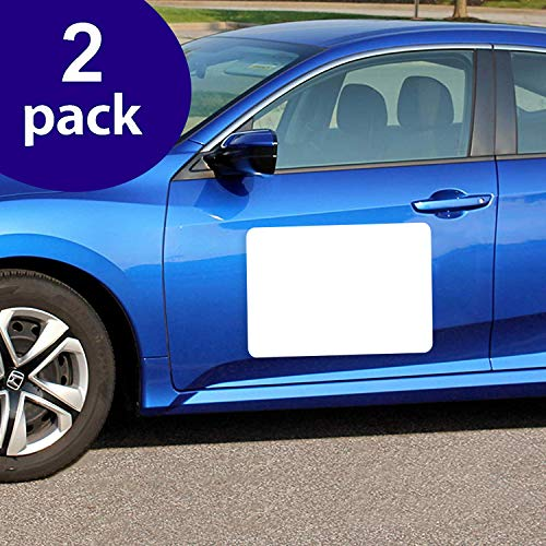 SignHero Blank Car Magnets (2 Pack) - Rounded Corners Blank Car Magnet Set – Magnet for Car to Advertise Business, Cover Company Logo (for HOA), and Prevent Car Scratches & Dents (Extra Large)