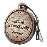"""Premium schenkYOU Schlüsselanhänger aus Nussbaumholz vorgraviert - personalisierte Geschenkidee - Gravur """"Bester Schwiegerpapa!"""""""