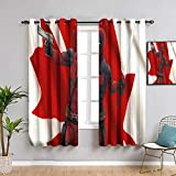 Elliot Dorothy Deadpool Grommet Blackout Curtains Window Curtain Fabric for Boys Room W84 x L84Inch Resistant Polyester Fabric