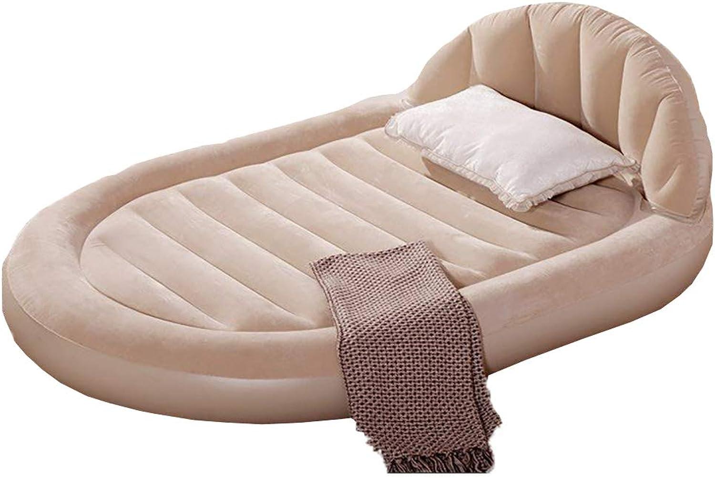 MCLJR Luftmatratze mit eingebauter Pumpe, angehobenes aufblasbares QueenGröße-Bett als Campingbett, für 2 Erwachsene, Büro im Freien, aufgeblasen Gre 60 × 85 Zoll