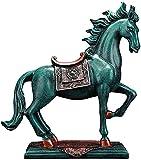 Estatua de Caballo de Resina para el Ornamento del Hogar Collector Figura Craft Muebles Configuración Escultura para la Sala de Estar Decoración Escritorio Armario Regalo B (Color: a)