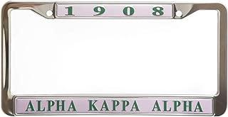 Alpha Kappa Alpha Sorority New Pink Metal License Plate Frame