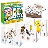 Stfitoh Kinderspielzeug ab 2 3 4 5 6 7 Jahre, Scrabble Buchstaben Lernen Spielzeug ab 2-7 Jahre Mädchen Lernspiele ab 2-7 Jahre Buchstaben Spiel Geschenk Junge Mädchen 2-7 Jahre