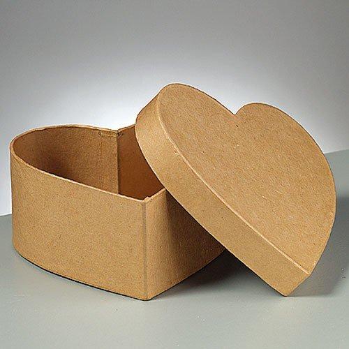 Herz-Dose Pappe / Karton zum Basteln und Selbstgestalten, 12x12x5,5cm