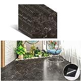 VEELIKE - Láminas adhesivas de vinilo, 12 unidades, para suelo, pared, mármol, autoadhesivas, azulejos para baño o cocina, 30 cm x 30 cm