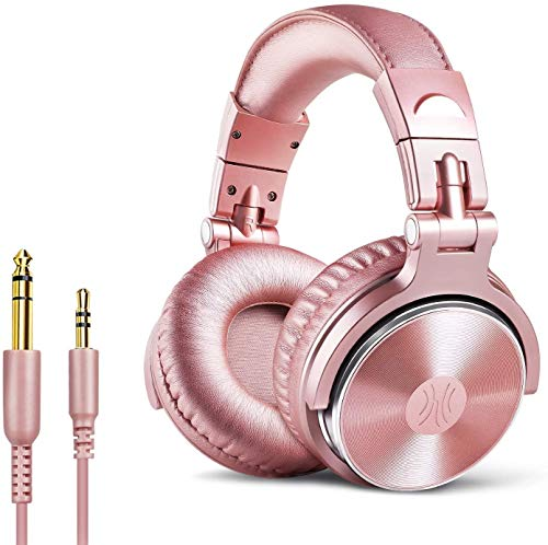 OneOdio DJ Kopfhörer, Studiokopfhörer, Over-Ear Headset, Adapter-frei Geschlossener Headphone 6,3mm & 3,5 mm Stereo/Studio Monitor & Mixing/Teleskoparme mit Skala/neuester 50mm Neodym Treiber