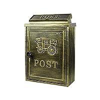 LMCLJJ ヴィラアメリカンレターボックスの壁掛け屋外キャストアルミニウム新聞と雑誌ボックスポストボックスメールボックス