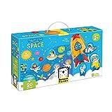 Banana Panda - Puzzle Figure It out Space - Puzzle de 20 Piezas con 8 Figuras de Juego para niños a Partir de 2 años y más