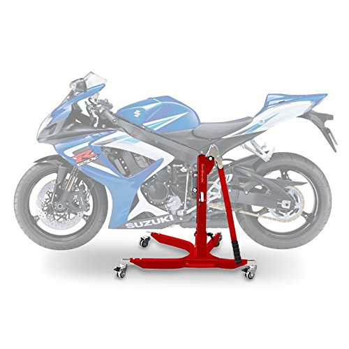 ConStands Power Classic-Zentralständer Suzuki GSX-R 750 06-07 Rot Motorrad Aufbockständer Heber Montageständer