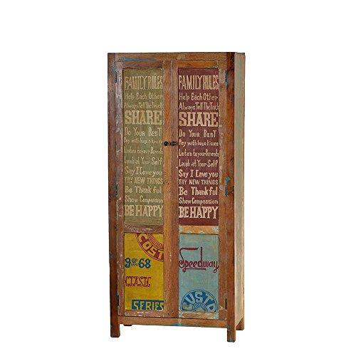 Pharao24 Dielenschrank im Vintage Design Recyclingholz