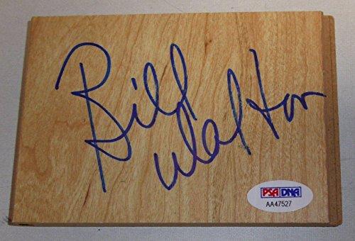 Bill Walton Signed 3.5x5 Floorboard PSA/DNA Basketball Blazers Celtics Clippers - Autographed NBA Floor Boards