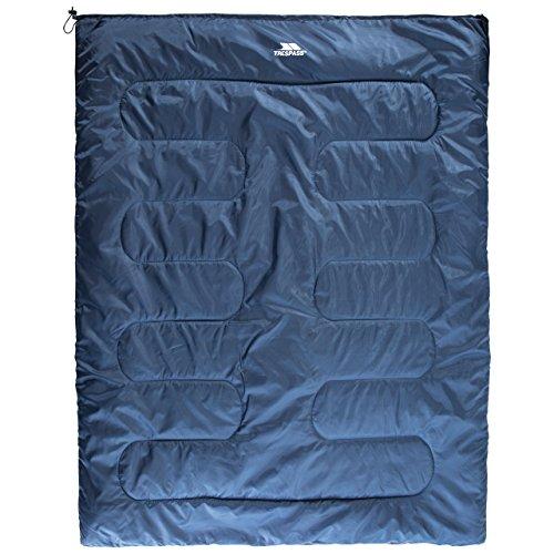 Trespass CATNAP Sac de Couchage Double pour Adulte 3 Saisons Hydrofuge, Mixte, UUACSLL30001, Bleu Marine, 180 x 140 cm