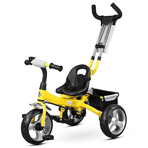 DUO Kids driewieler met afneembaar duwhandvat 3 wiel peuters kinderen rijden op pedaal trike fiets 18 maanden tot 5 jaar