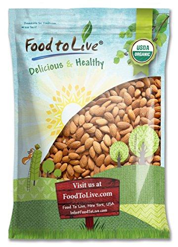 Raw Organic Almonds, 5 Pounds - Non-GMO, Kosher, No Shell, Whole, Unpasteurized, Unsalted, Bulk
