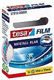 Tesa Film Cristallino, 10 m x 15 mm, 1 Rotolo nella Scatola Pieghevole Sospesa