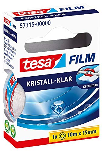 Tesa film kristall-klar, 10m:15mm, 1 Rolle in der Hängefaltschachtel