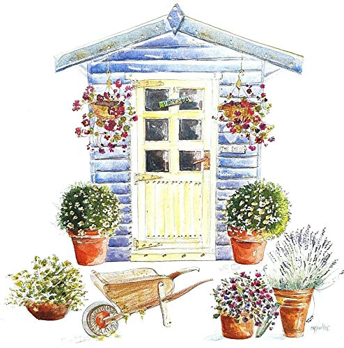 Luxury Blank Greeting Card - The Garden Shed - Any Occasion/Birthday