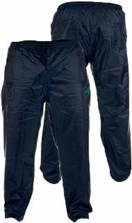 D555 Kingsize Big Mens Rain Trouser Rainover Weatherproof Packaway with Bag, Navy (1XL-8XL)