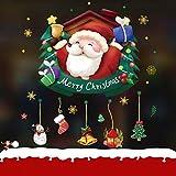 NLRHH Frohe Weihnachten Aufkleber Weihnachtsfenster Klammer Schneeflocke Fenster Aufkleber Fensteraufkleber Shop Fenster Aufkleber Tür auf, a Peng (Color : A)