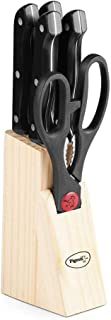 Pigeon Shears Kitchen Knifes 6 Piece Set with Wooden Block