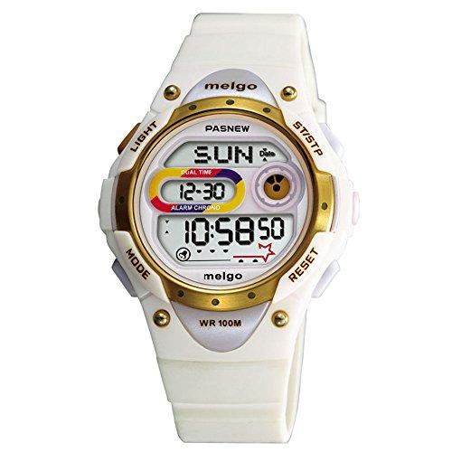 Wise Girls Watch, Ladies Watches, Waterproof 100m Watches, Digital Watches Sports Watches, 2001d (White)