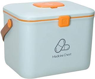 ポータブル薬箱家庭用子供大救急箱多層ポータブルプラスチック医療箱薬収納ボックスライトブルー
