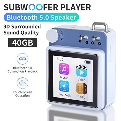 puissant Lecteur MP3 MYMAHDI, lecteur audio HiFi sans perte de 40 Go avec Bluetooth 5.0 et haut-parleurs…