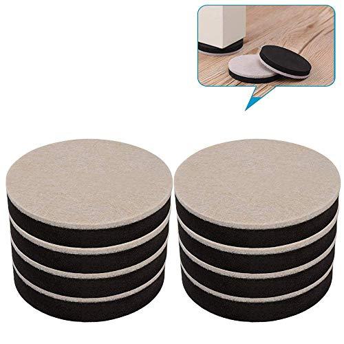 Diapositive in feltro per mobili Dia 22mm Confezione da 30 protezioni per mobili Felt Pad Skid Glide Sedia da tavolo Chiodi da gamba