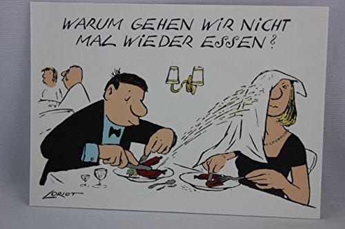 Postkarte A6 • 071 ''Warum gehen wir nicht mal wieder essen?'' von Inkognito • Künstler: LORIOT DESIGN GMBH © Loriot