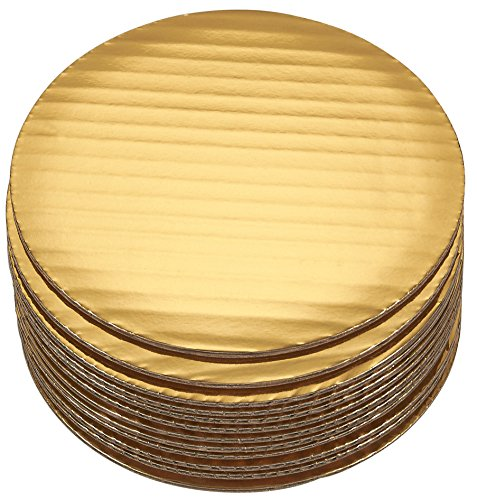 Cake Boards - 12-Piece Cardboard Round Cake Circle Base, 6 Inches Diameter, Gold