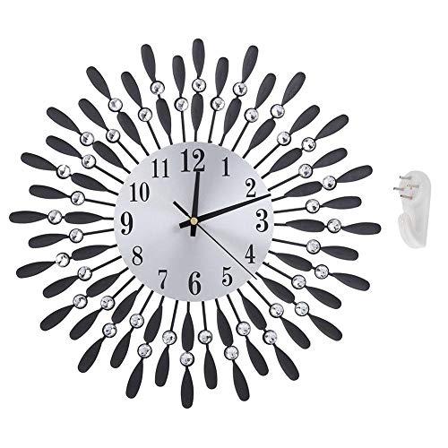 Wandklok, modern luxe groot horloge decor, thuiskantoor kamer decor (zwart)