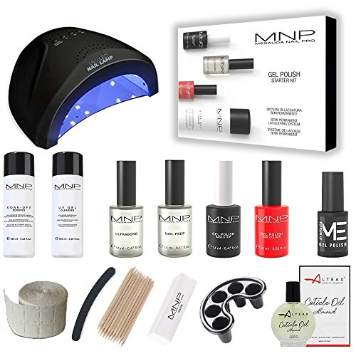 MESAUDA STARTER KIT GEL POLISH 14 ML SMALTO SEMIPERMANENTE UNGHIE + FORNETTO LED + OMAGGIO SMALTO 5ml E OLIO CUTICOLE ALTÉAX® + ACCESSORI