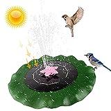 Fuente Solar para Estanque, Fuente de Agua Solar de 3W con Boquilla de rotación, Bomba de Agua Solar Flotante Bomba de Fuente de Hoja de Loto para baño de pájaros, decoración de jardín