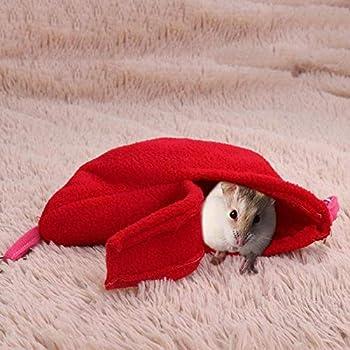 YITON Balançoires d'oiseaux Hiver Chaud Banane Hamster Hamac Suspendu Cage Maison Pet Rat Oiseaux Petits Animaux Balançoire Couchage Nid Lit 1Pz Rose