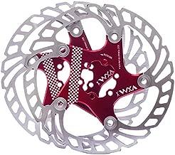 YBEKI Bike Disc Brake Rotor 140mm 160mm 180mm 203mm disc Brake Rotor with 6 Bolts for Road Bike Mountain Bike MTB BMX Stainless Steel Bicycle Rotor (red, 160)