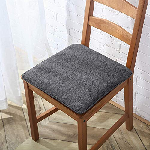 YWYW Imbottiture per sedili per sedie in Tessuto di Lino con Lacci Quadrati Comfort Superiore Cuscino per Sedile Traspirante e Lavabile Tappetini per Tatami Staccabili Cuscini per Sedia da pranz
