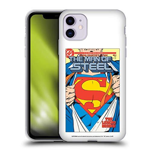 Head Case Designs Licenciado Oficialmente Superman DC Comics El Hombre de Acero 1 Fundas de cómics Famosas Carcasa de Gel de Silicona Compatible con Apple iPhone 11