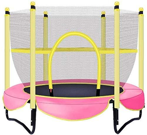 NOLLY Trampoline kleine indoor kindertrampoline met veiligheidsnet draagvermogen 150 kg / diameter 150 cm roze