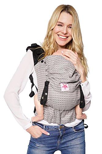 Babytrage: KOKADI® Flip - Heart2Heart (Toddler) ✓ Kleinkinder ✓ Ergonomisch ✓ Steg verstellbar ✓ Bio-Baumwolle ✓ bis 20kg ✓ GRATIS Beutel