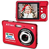 ATian Compactas Cámaras Digitales 2.7 Pulgadas LCD 8X Zoom Digital Anti-vibración Recargable...