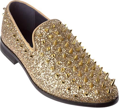 sparko16 Mens Glitter Gold Shoes Size 11