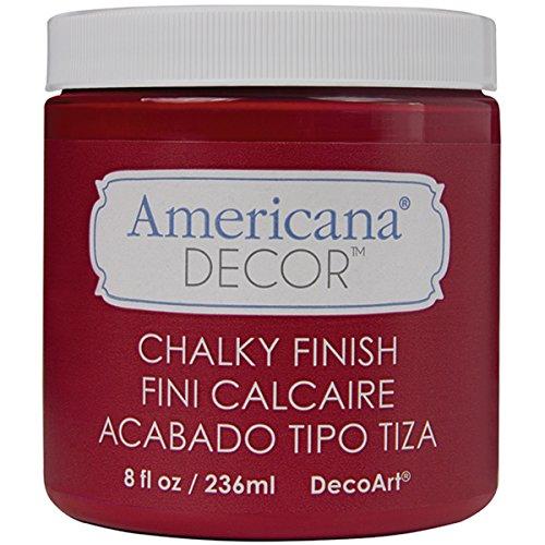 Deco Art Americana Decor-Pintura con Acabado de Tiza (8oz), Rojo, DecoArt 8 oz Romance