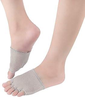 1 par de mujeres sandalias antideslizantes de tacones altos calcetines invisibles medias de pie footie