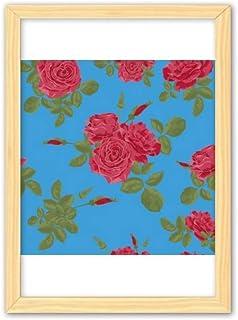 CaoGSH Peinture décorative en bois bleu et rouge A4