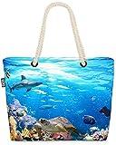 VOID Arrecifes Animales Marinos Peces Buzo Bolsa de Playa 58x38x16cm 23L Shopper Bolsa de Viaje Compras Beach Bag Bolso