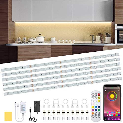 Racokky 3M LED Strip Music, LED RGB Bluetooth RGB 90 LEDs IP65 Wasserdicht 12V, mit Bluetooth Controller + Fernbedienung, LED Strip Light für Smartphone APP Steuerung